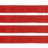Miyuki Tila Beads 5X5mm 2 Hole Red Opaque Matte